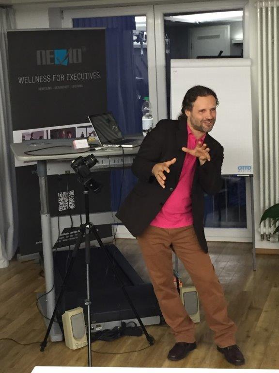 Armando Verano Marketing Design aktuell beim Vortrag