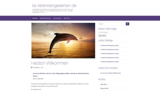 Screenshot der Seite Dr. Beate Puck